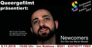 Queergefilmt: Newcomers @ Uni Koblenz, Raum M201 | Koblenz | Rheinland-Pfalz | Deutschland