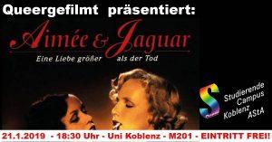 Queergefilmt: Aimée & Jaguar @ Uni Koblenz, Raum M 201 | Koblenz | Rheinland-Pfalz | Deutschland