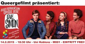 Queergefilmt: Love, Simon @ Uni Koblenz, Raum M 001 | Koblenz | Rheinland-Pfalz | Deutschland